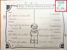 Planning hopes and dreams- responsive classroom