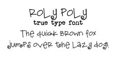 Roly-Poly_free fonts