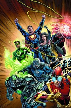 Justice League Vol. 5 - Forever Heroes. Forever Strong. The Crime Syndicate of Earth-3 invades our world and defeats the Justice League. Ultraman, Superwoman, Owlman, Power Ring, Johnny Quick, Grid, Atomica, and Deathstorm begin their reign.