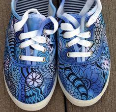 Zentangle Art | Zentangle sneakers, shoes, sneakers, zentangle art, original art, OOAK ...
