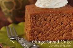 Gingerbread cake - made with clementine zest instead of lemon zest and used in gingerbread-house cakelet pan