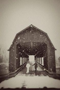 Covered Bridge on Wedding Day.