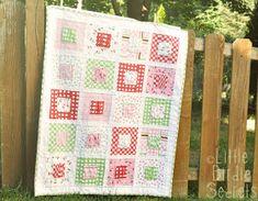Little Birdie Secrets: gather love baby quilt tutorial {riley blake fabrics}