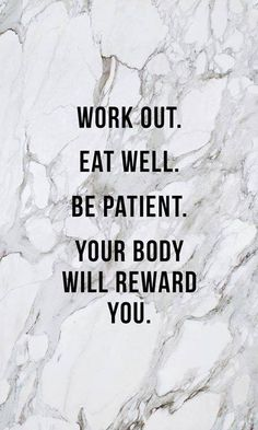 GREAT ADVICE....one day at a time. Take care of your body and mind they will take care of you!