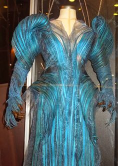 Into the Woods blue Witch costume detail