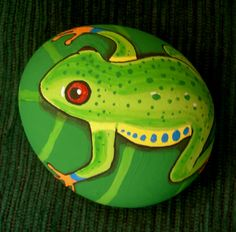 Kedibu Murales y Objetos Decorativos: Piedras pintadas: rana y ...