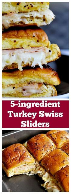 These Turkey Sliders are easy and perfect for parties, game days, o. These Turkey Sliders are easy and perfect for parties, game days, or any other gatherings! Ooey gooey cheese and delicious smoked turkey make a wonderful combination! Sandwich Original, Slider Sandwiches, Party Sandwiches, Steak Sandwiches, Slider Recipes, Game Day Food, Game Day Recipes, Game Day Snacks, Football Food