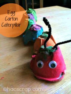 My Scraps | How-to Make an Egg Carton Caterpillar