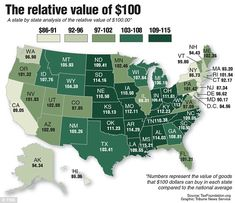 Cost Of Living, Fitness Gifts, Historical Maps, Us Map, Us History, Retirement Planning, 50 States, Cartography, Geography