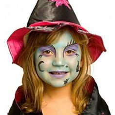 witch horror and halloweenface paint ideas how to face paint - Witch Halloween Makeup Ideas