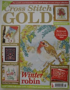 Cross-Stitch-Gold-English-UK-magazine-Feb-2015-Robin-bouquet-more