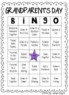 Grandparent's Day/Special Person's Day BINGO