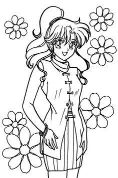 Sailor Moon Coloring Pages, Coloring Pages For Girls, Coloring Book Pages, Coloring For Kids, Adult Coloring, Dobby Harry Potter, Graphic Design Services, Drawing For Kids, Beautiful Creatures
