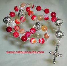Hand made Agate gemstone Anglican Rosary