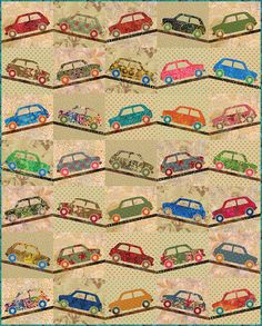 Such a great quilt for a boy's room!!  SWEET RIDE Quilt PATTERN  by Edyta Sitar for by FabricSweets, $10.00