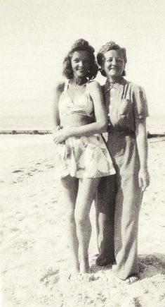 Lauren Bacall at 15 with her mother, Natalie ~ 1940