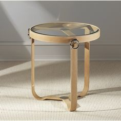 Brayden Studio Irons End Table Color: Tan Round Side Table, Round Coffee Table, Sofa End Tables, Coffee Table Styling, Modern Materials, Polished Nickel, Home Goods, Pure Products, Furniture