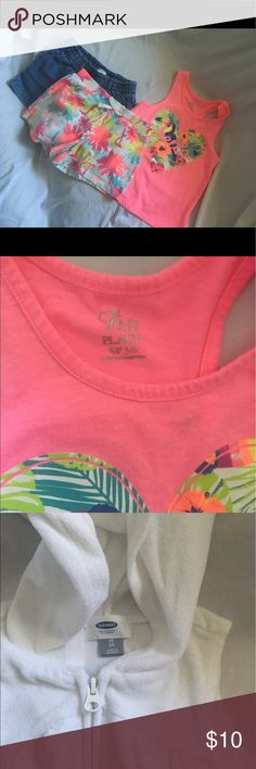 5T Girl Mixed Clothes 6 pairs of shorts 1 shirt and 1 swimsuit cover up.  Good used condition. Other