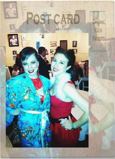Lily with hopper extraordinaire Abs Marie at Holiday Pinup 2012