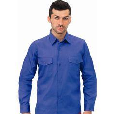 Camisa Dos Bolsillos Manga Larga Algodón 500 Referencia  A-43 Marca:  Vesin   Manga larga y corta. Bolsillos: 2 de pecho con tapeta