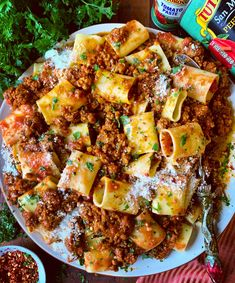 This Paccheri with Spicy Calabrese Style Pork Ragu recipe is featured in the Pasta feed along with many more. Pork Ragu, Ragu Recipe, Recipe Box, Sweet Italian Sausage, Sweet And Spicy, How To Cook Pasta, Quick Easy Meals, Italian Recipes, Italian Foods