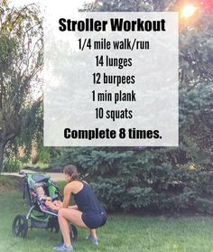 Persian Pulled Chicken This Stroller Workout is a fun way to break up your next walk or run by adding short fitness breaks that include lunges, squats, burpees and planks. Fun for you AND baby! Burpees, Squats, Jogging Stroller, Fitness Facts, Fitness Tips, Fitness Motivation, Health Fitness, Post Baby Workout, Pregnancy