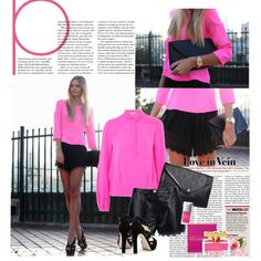 Black and Pink!, created by audrey3619 on Polyvore