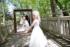 How adorable is this flower girl! Great idea! Photo by Kim. #minneapolisweddingphotographers #weddingidea #flowergirl