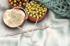 Handmade Sterling Silver Wire Shawl Pin  Two by EverydayPeacocks, $30.00