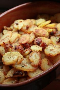 Octoberfest German Style Fried Potatoes with bacon and onion. No need to wait for October to eat this! It's so simple and looks delicious!
