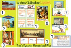 Free Ancient Civilizations Lapbook, including Mesopotamia, Rome, Sumer, Greece, Egypt, Minoans & Babylon #ancientcivilizationslapbook