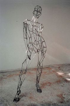Steel Sculpture or Statues made from Metal Rods or Bars sculpture by sculptor Toby Short titled: 'virtual woman (Caryatid Big Steel Armature female/Girl sculpture/statue)' Human Sculpture, Sculpture Metal, Abstract Sculpture, Armature Sculpture, Sculpture Images, Alberto Giacometti, Steel Art, Wire Art, Figurative Art