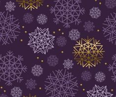 Lines snowflake seamless pattern vector