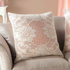 Cuscino,  lana e schema