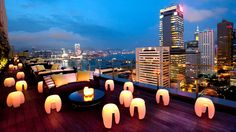 If you're looking for one of the most glamorous bars in Hong Kong — and possibly even the world — look no farther than this penthouse bar on top of the prestigious Prince's Building. The360-degree views of Norman Foster's HSBC Building and I.M. Pei's Bank of China Tower from Sevva'swraparound terrace, combined with dazzling interiors that reflect owner Bonnie Gokson's iconic style, has made this the top spot for impressing out-of-towners. The well-coiffed crowd clamors for dishes such as…