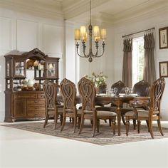 Homelegance Golden Eagle Dining Set, Antique Caramel