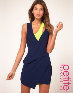 Asos Petite collection, blue and yellow fluo.