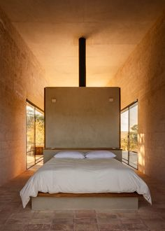 "PPAA Arquitectos completes ""isolated"" stone retreat for two brothers in Mexico Decor Interior Design, Interior Decorating, Block Wall, Le Havre, House And Home Magazine, Contemporary Architecture, Modern Bedroom, Minimalist Bedroom, Living Spaces"