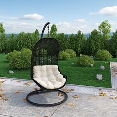 LexMod - Parlay Swing Outdoor Patio Lounge Chair
