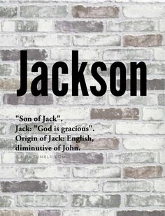 What Does Jackson Mean In Hebrew