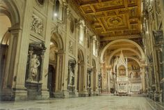 St. John Lateran Basilica (San Giovanni in Laterano), Rome, Italy. St. John's is the seat for the Bishop of Rome, The Pope.