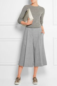 Stella McCartney Stretch-wool culottes NET-A-PORTER.COM