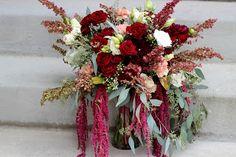 Merlot and Blush Bridal Bouquet // Celebration Flair