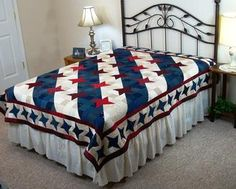 Streaks of Light Quilt Pattern  Great patriotic quilt pattern.  The block is…