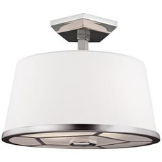 "Pentagram 12 1/2"" Wide Two Tone Nickel Ceiling Light - #8N252 