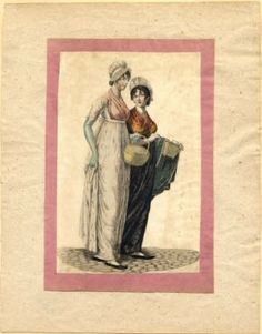 Women with baskets, 1801 :: Fashion Plate Collection, 19th Century
