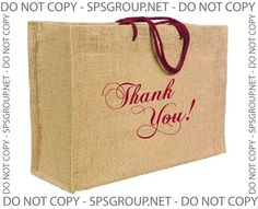 Jute tote bag / Burlap tote bags - great way to say thank you to your loyal customers for Christmas, holidays or any event!