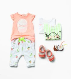 Zara Baby Girls Beach Holiday outfit Sweet