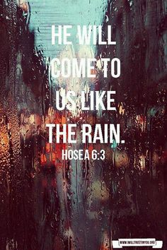 Hosea 6:3 Perfect for today.