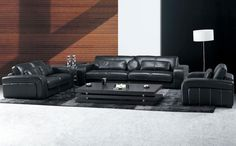 nice black leather living room furniture for Comfortable Check more at http://bizlogodesign.com/black-leather-living-room-furniture-for-comfortable/